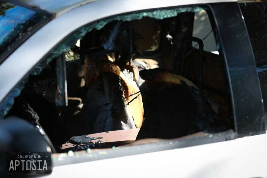Residents said they were shocked when they woke up Sunday morning, smelled burnt plastic in the air, saw shattered glass on the ground, and discovered their cars had been destroyed.