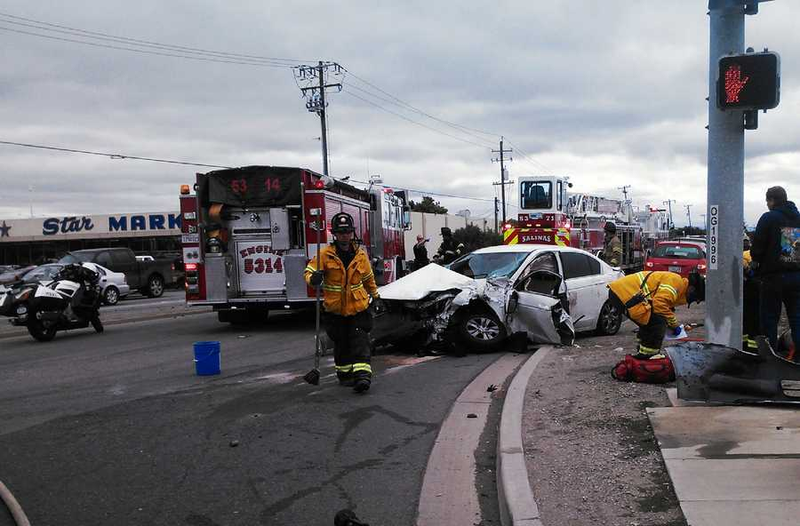 Drivers called 911 about a reckless driver speeding toward Salinas minutes before a serious crash happened at the intersection of South Main Street and Blanco Road on May 26. 911 callers said Pablo Pomales, 23, was passing other cars at 70 mph.Police suspect Pomales was under the influence of prescription drugs.