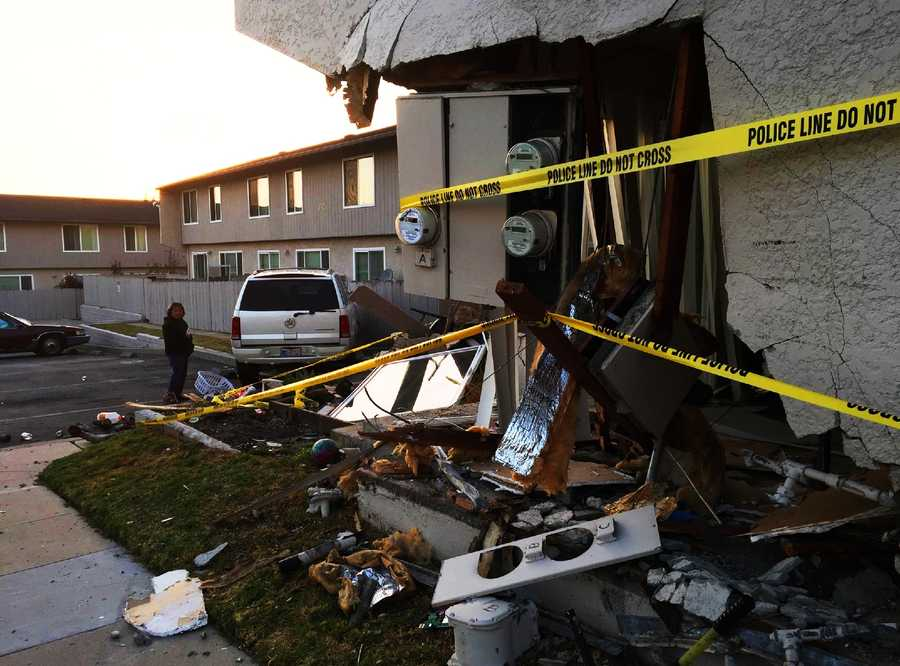 Two teenage girls went for a joyride in an Cadillac Escalade that ended when they crashed into multiple cars, broke a gas line, and drove through a Seaside apartment building, police said. A 14-year-old girl was driving a white Escalade with an 18-year-old girl riding along on May 20, 2015. Read the story here.