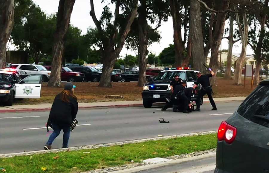 """More than a dozen drivers called 911 reporting a crazy man was throwing a woman into the street. Acosta also called 911, and was hysterical for most of the call.She can be heard yelling at her son, """"Jose! What are you doing? What are you doing? What's wrong?"""""""