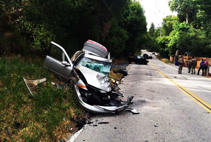 The drivers of both vehicles, as well was the ejected passenger, were airlifted to trauma centers. (July 22, 2015)