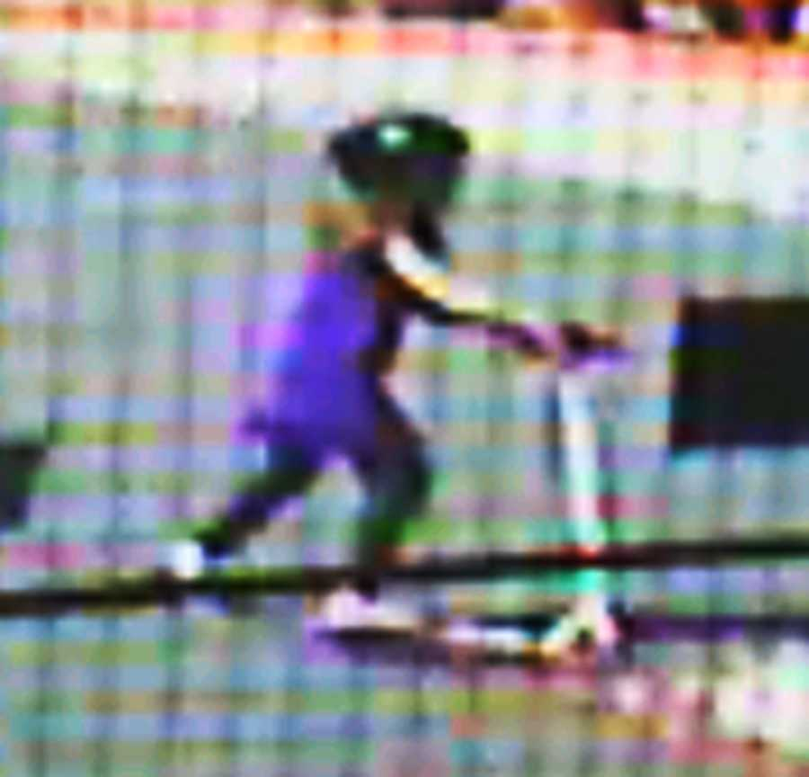 This is the last image of Maddy alive. She was recorded riding her scooter by a security camera moments before she vanished.