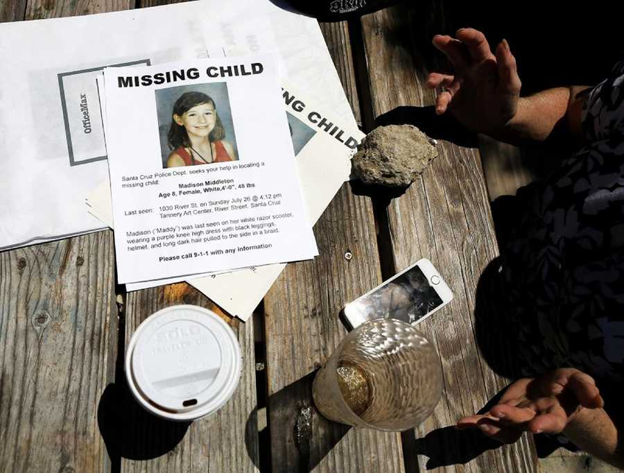 Hope turned into disbelief and dismay when a Santa Cruz Police Department detective found the little girl's body.