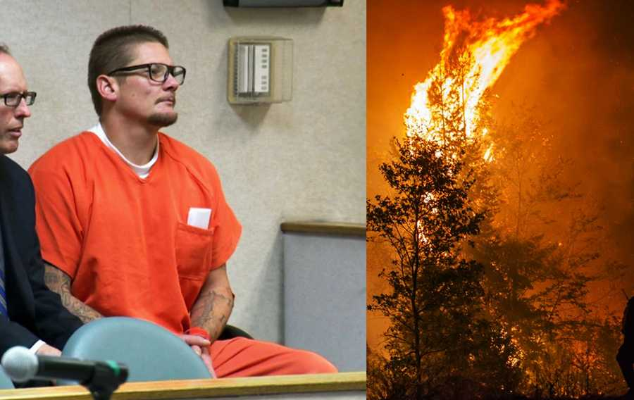 Wayne Huntsman is currently in prison and accused of intentionally igniting a massive wildfire in a national forest. The King Fire scorched 120 square miles and 12 homes before firefighters contained it last fall. The King Fire cost $5 million a day to fight, fire officials said.