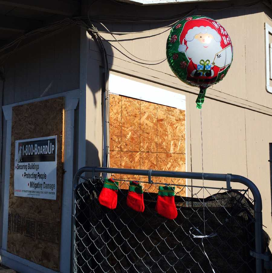 Someone hung three Christmas stockings for Shaun, Delylah, and their 9-year-old sister. The 9-year-old was tortured, beaten, and starved, but is expected to recover in a hospital.