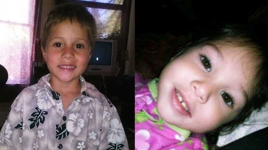 Shaun, 6, and Delylah, 3, were found dead in a storage locker in Redding, Calif.