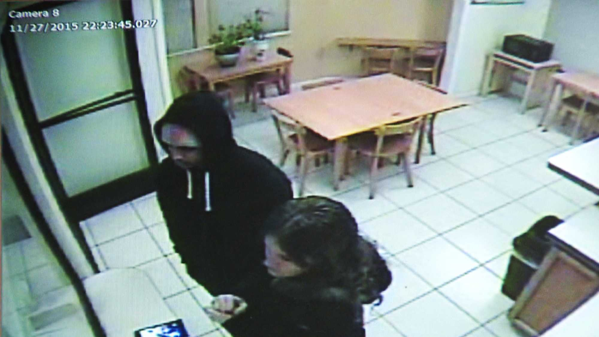 Huntsman and Curiel are seen checking into a Motel 6 in Northern California on Nov. 27, 2015.