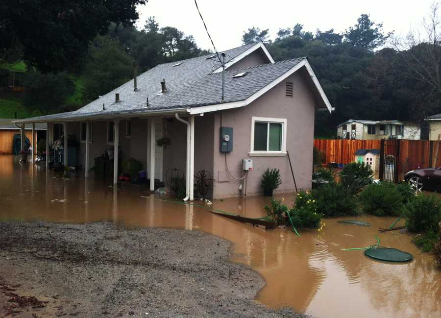 A house in Castroville was flooded on Jan. 19.