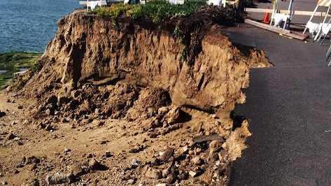 El Nino storms create sinkholes around Santa Cruz