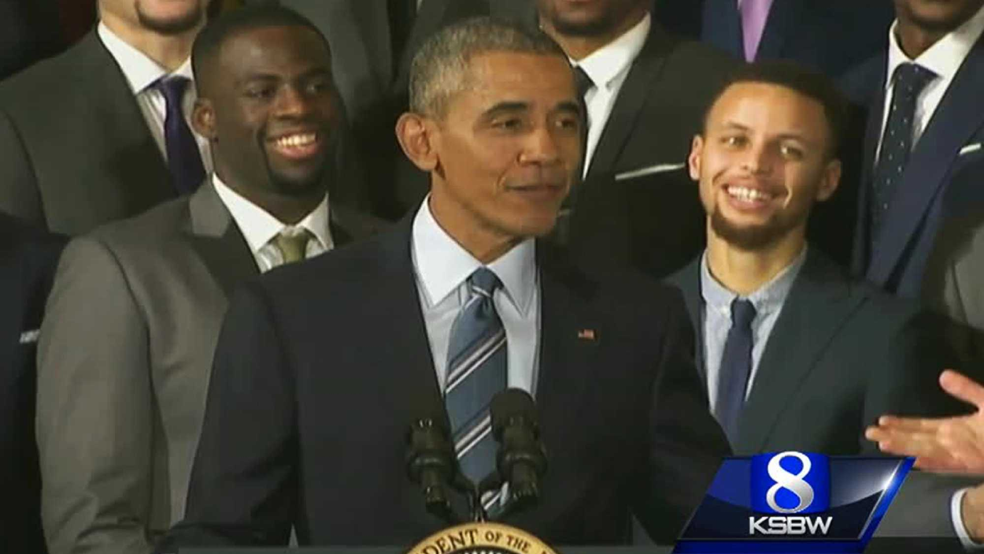 Obama and Warriors