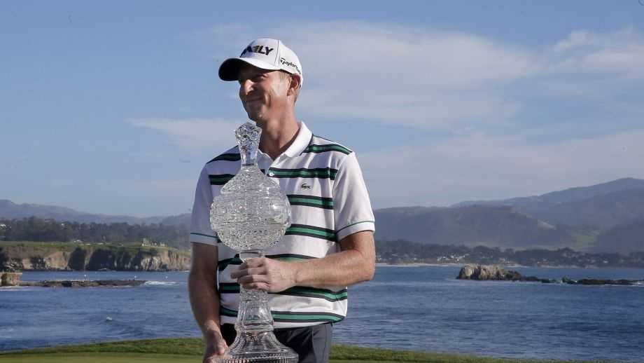 Vaughn Taylor wins the AT&T Pebble Beach Pro-Am finishing with a score of 17-under-par for the tournamnet on Sun. February 14, 2016, in Pebble Beach, California.