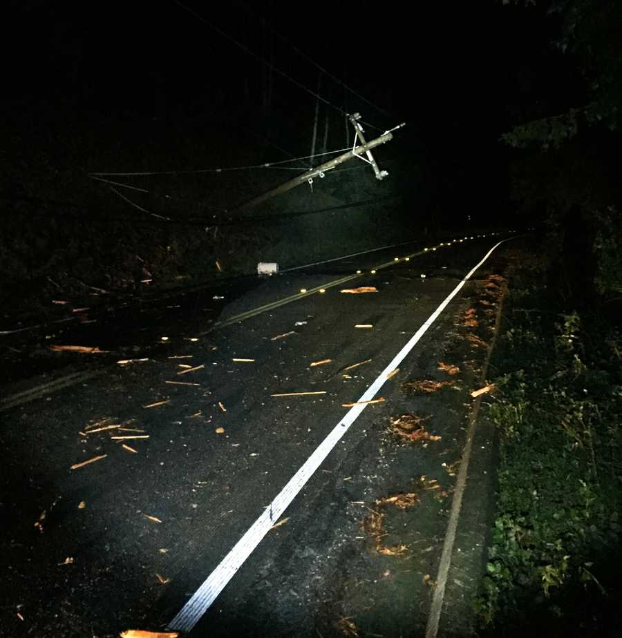 A driver crashed into a power pole and caused live electrical wires to be torn down. A deputy was standing on the road providing traffic control when a second intoxicated driver nearly struck the deputy, according to the Sheriff's Office.