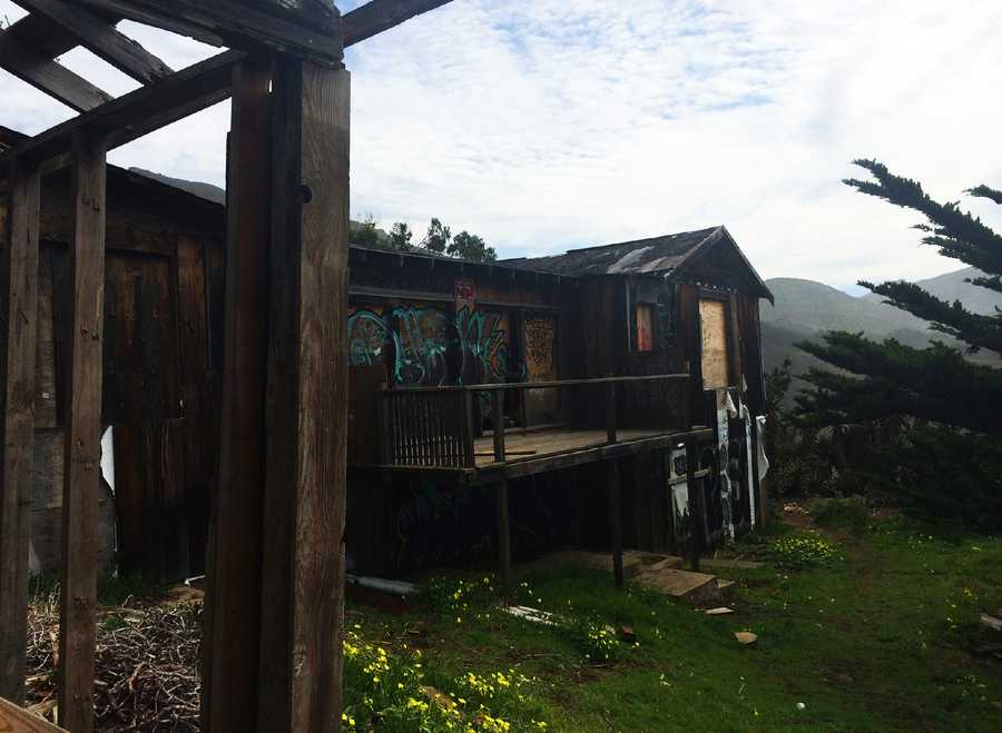 An abandoned house in Big Sur is a popular hangout spot for teenagers.