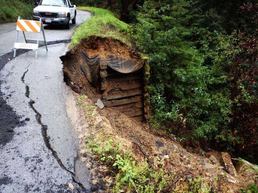 Miller Cut Off Road in the Santa Cruz mountains
