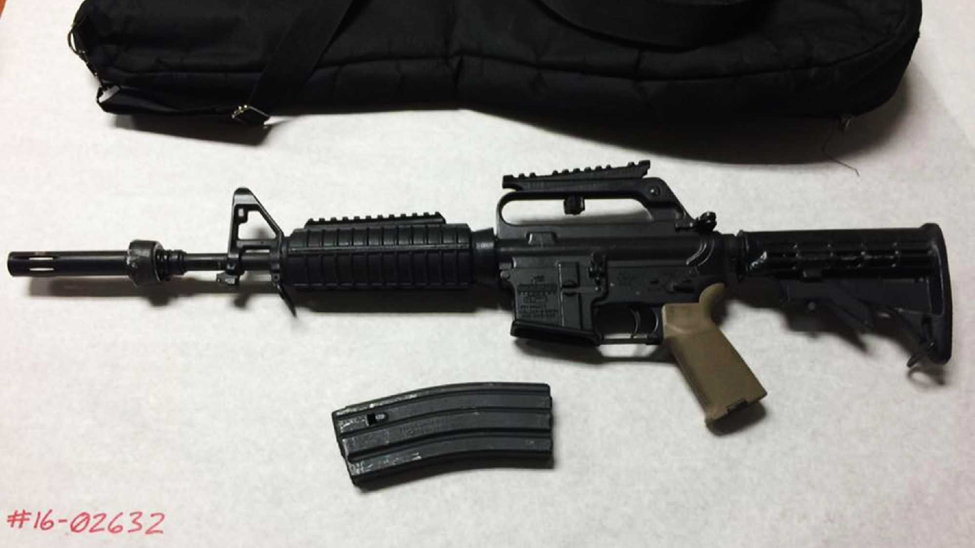 This AR15 was seized in Aptos on April 2, 2016.