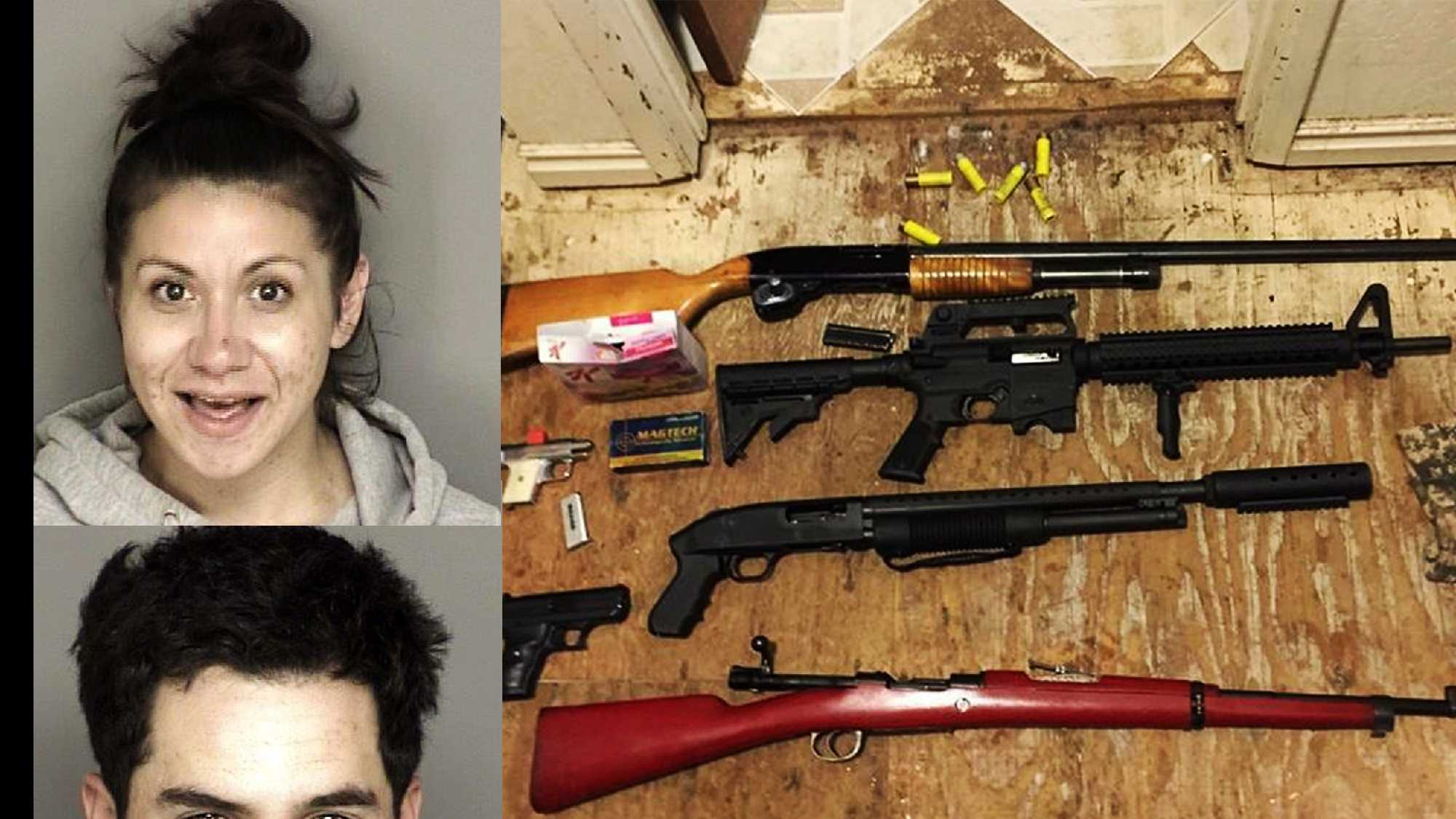 Amanda Mairose, Eduardo Barajas, and seized guns