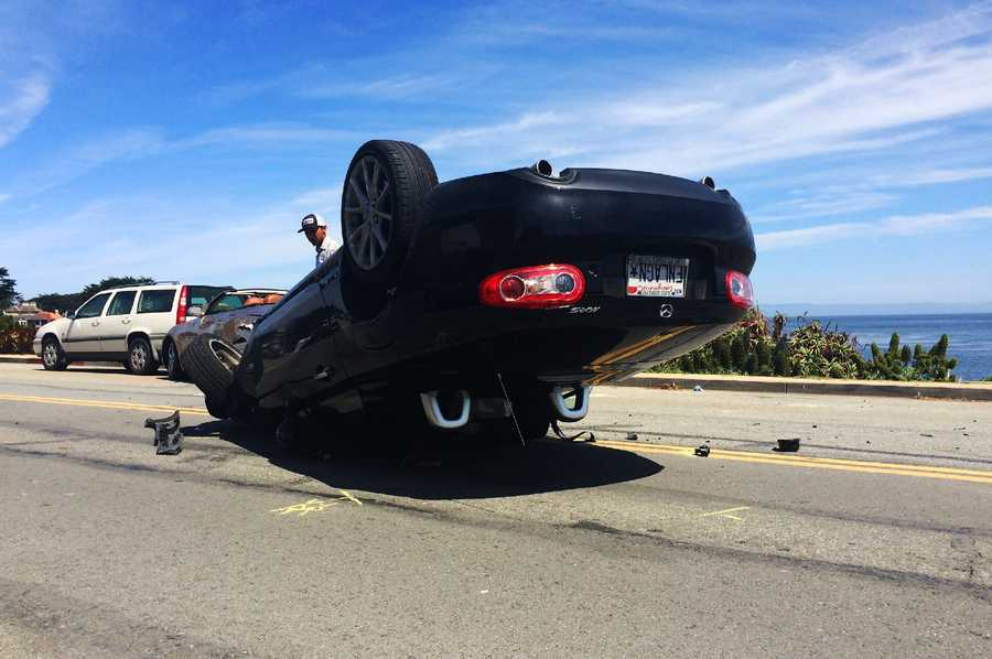 Drivers involved in the 11 a.m. wreck said they were part of a sports car club from Sacramento. The group was on their way to cruise 17 Mile Drive in Pebble Beach when they decided to pull over in Pacific Grove by the ocean and take photographs.