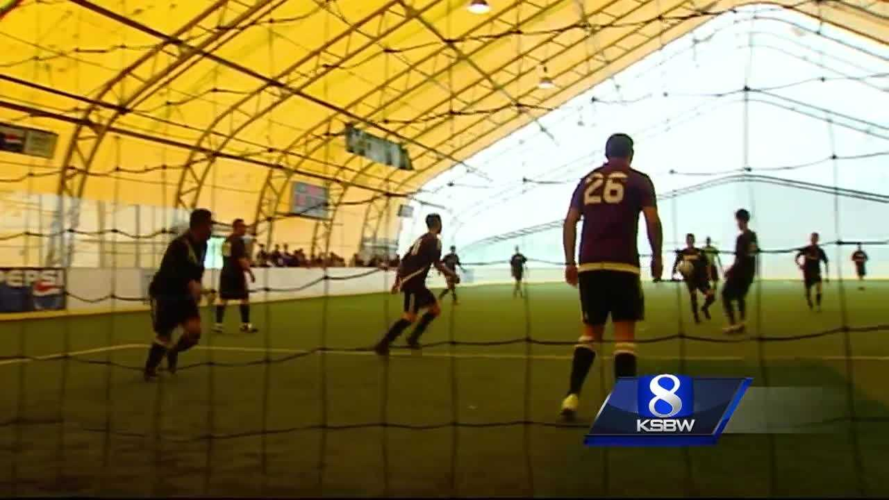 Youth soccer team challenged Cops to a friendly match