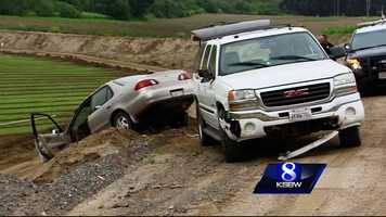 Shortly after, Valencia crashed into a farm ditch along River Road between Salinas and Chualar. He abandoned the wrecked car and went home. A few hours later, he got into his sport utility vehicle and went driving around looking for his car.
