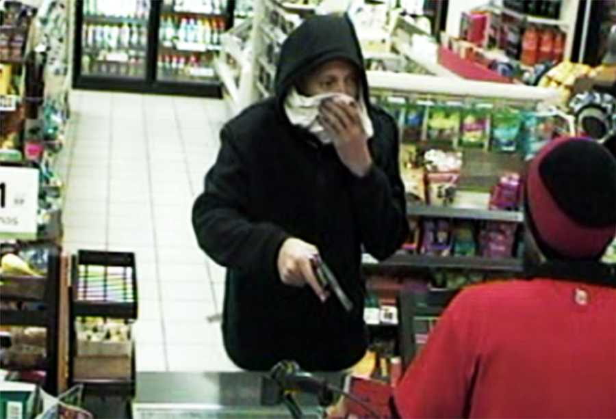 At 2:30 a.m., the Soledad man robbed a 7-Eleven store on South Main Street in Salinas at gunpoint, police said. The robber tried to hide his face while pointing a gun at a store clerk, but he dropped his mask while grabbing cash.