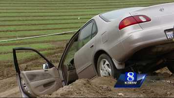 California Highway Patrol officers said Valencia was under the influence of drugs or alcohol while he was driving, and he crashed into an orchard. When he finally found his car, he attempted to tow it out of the ditch with the SUV. CHP officers  questioned Valencia and arrested him on suspicion of two DUI crashes.