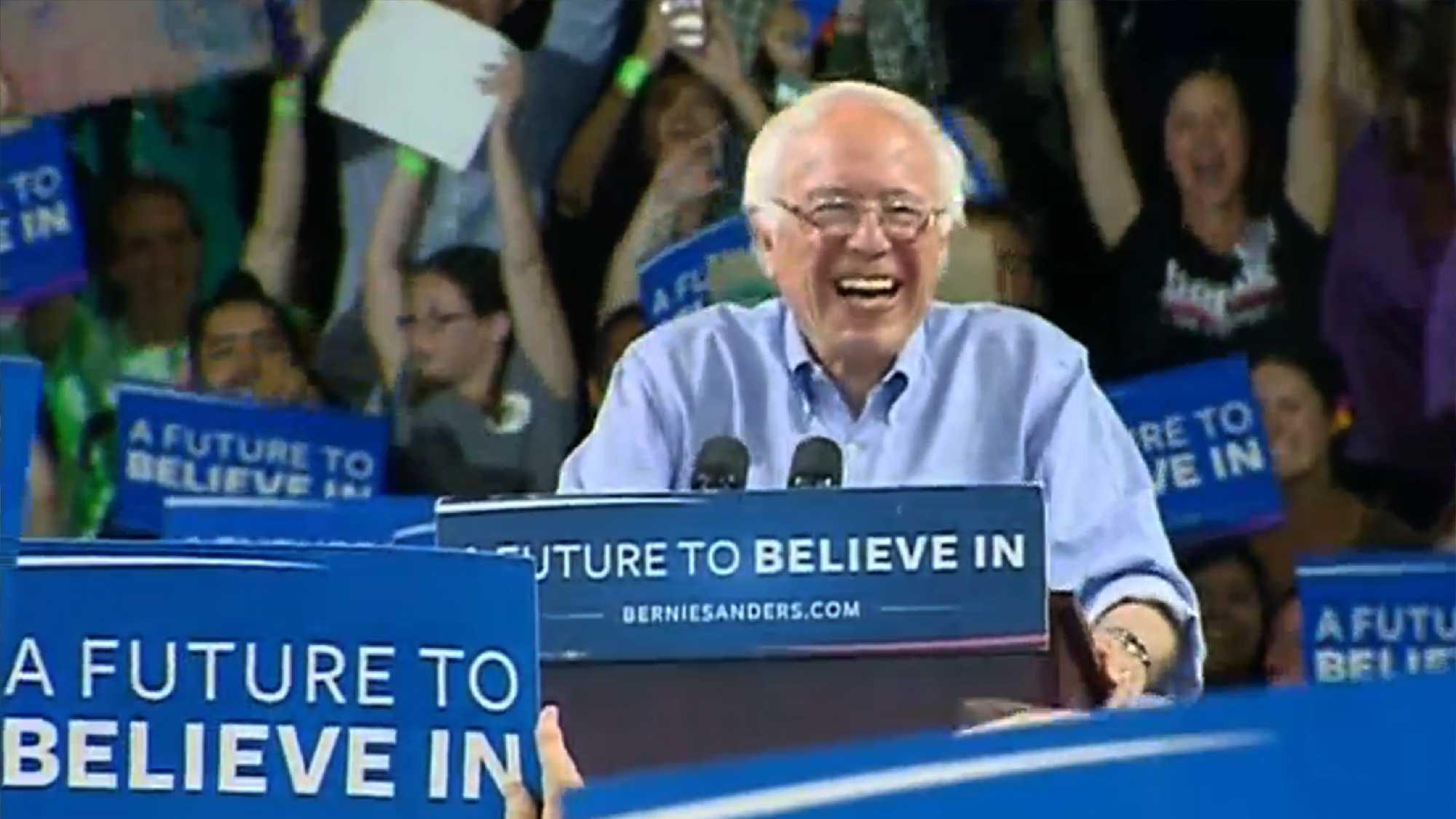 Bernie Sanders in Santa Cruz