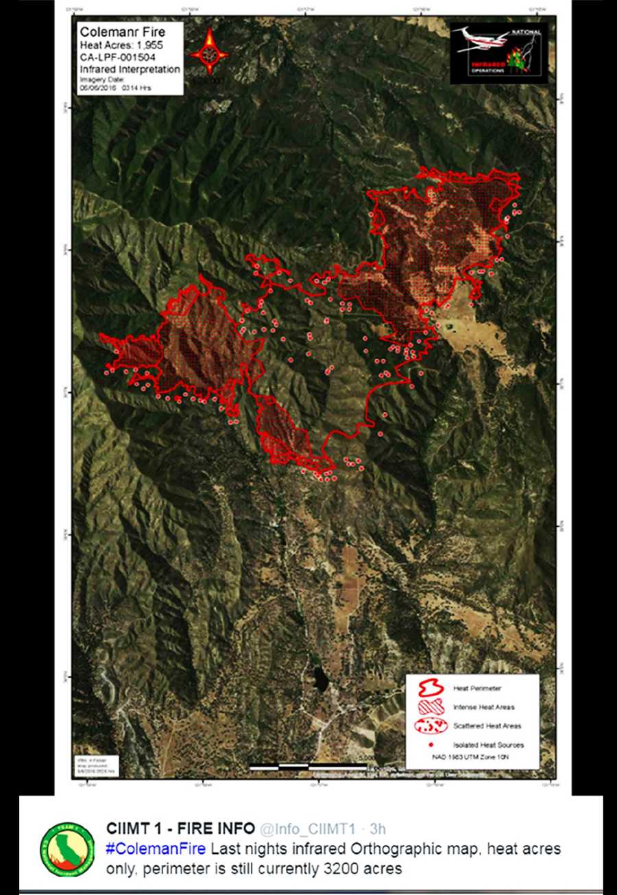 Heat Map of Coleman Fire