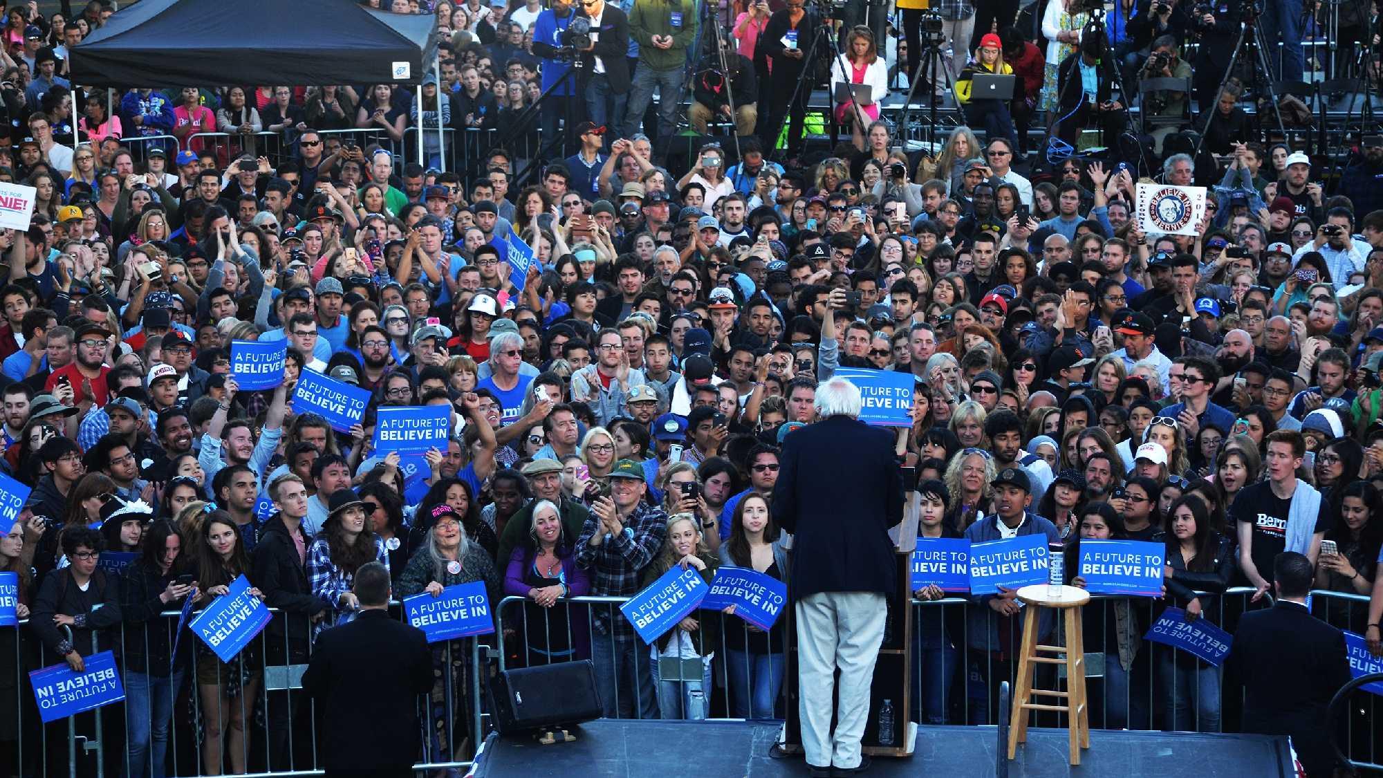 Bernie Sanders campaigns in Monterey