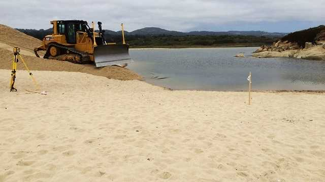 Crews work to save Steelhead trout near Carmel River Lagoon