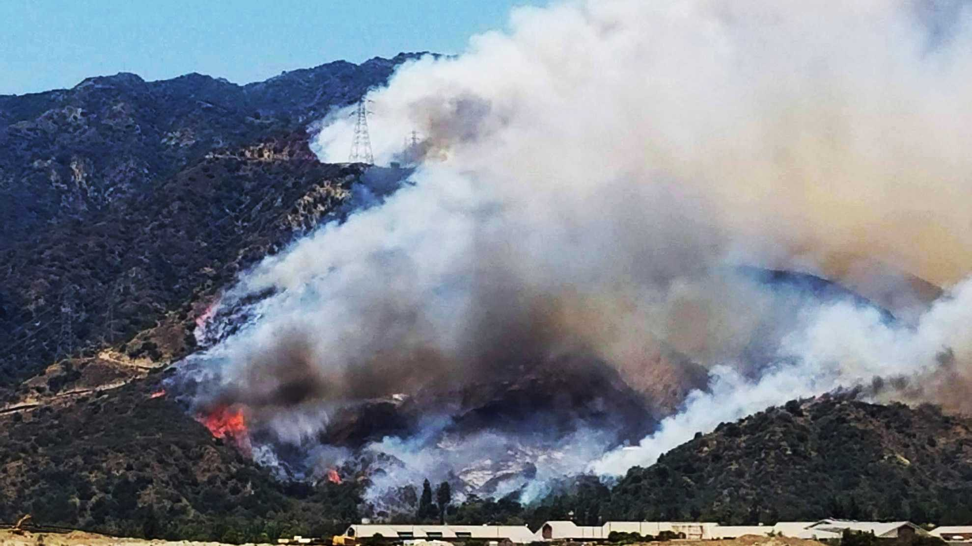 Reservoir Fire in Los Angeles County