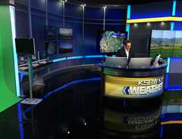 New weather office with Meteorologist Lee Solomon