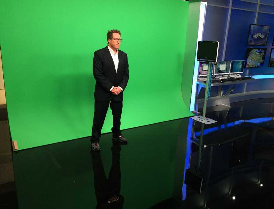 New green screen with Meteorologist Lee Solomon