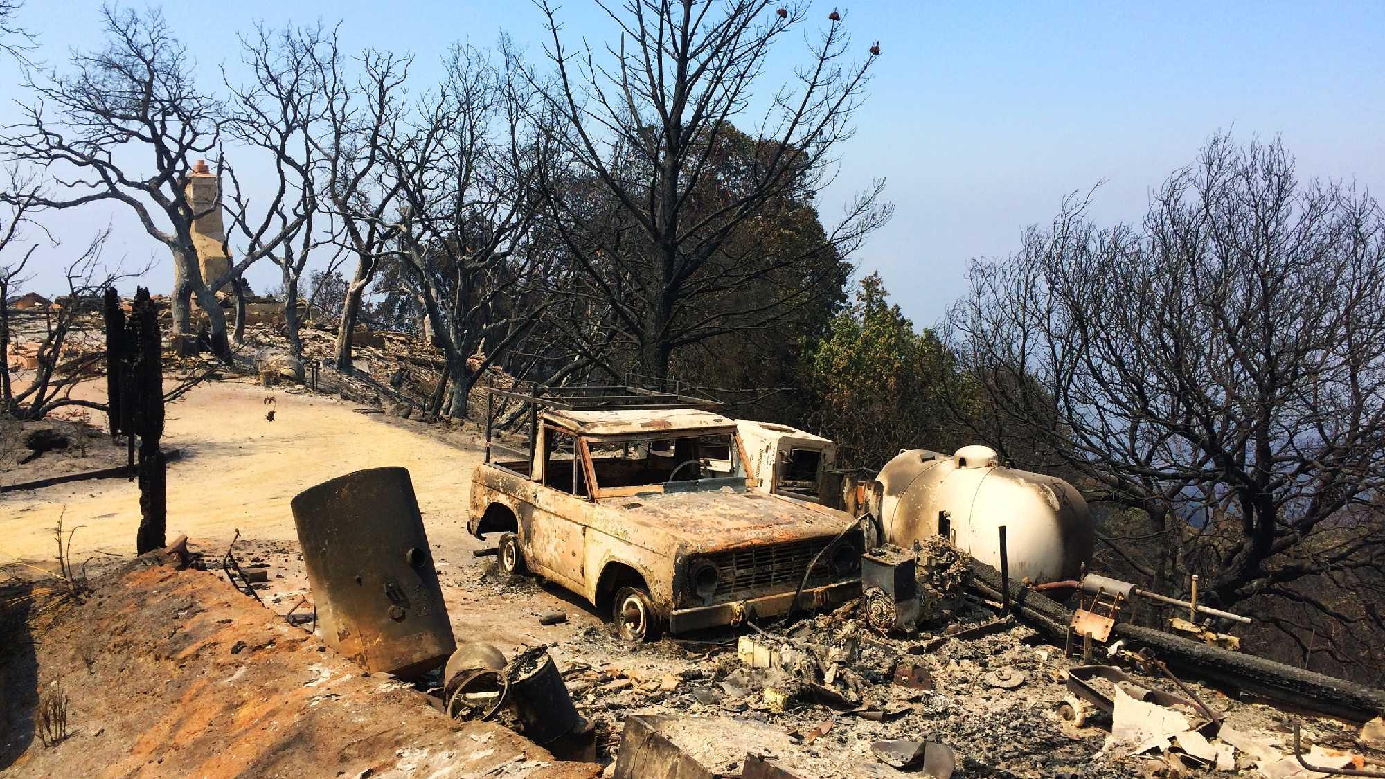 Soberanes Fire destruction on Green Ridge (Aug. 1, 2016)