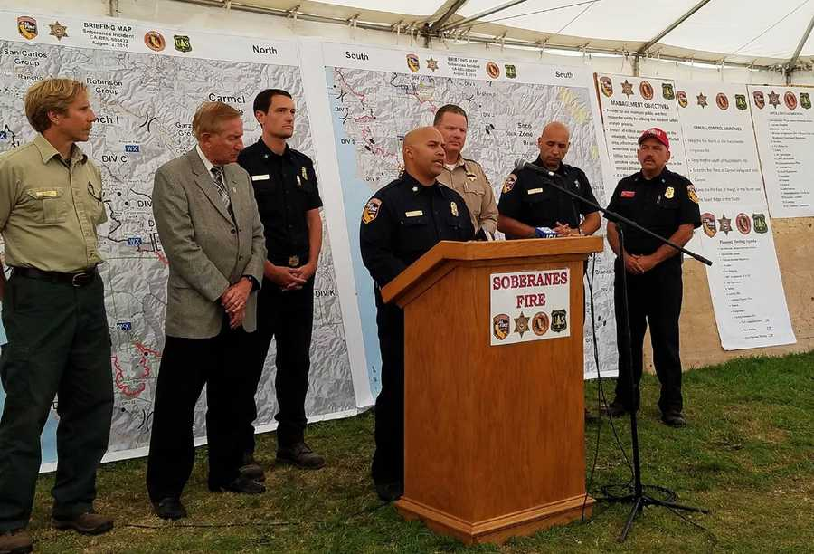 The Soberanes Fire was caused by someone who lit an illegal campfire and left it unattended, Cal Fire unit chief Brennan Blue said.