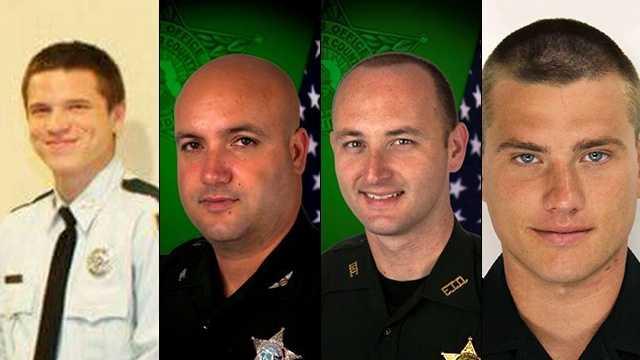 Left to right: Jacob Ursin,Deputy Dilks, Deputy Henson, Deputy Curby.