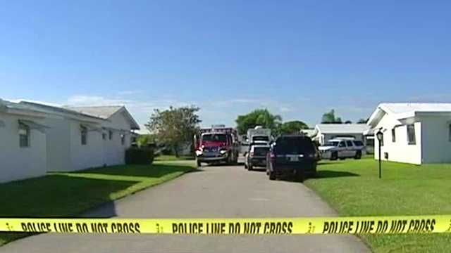 The Palm Beach County Sheriff's bomb squad responded Monday after residents cleaning  cleaning out a deceased relative's home found a grenade.