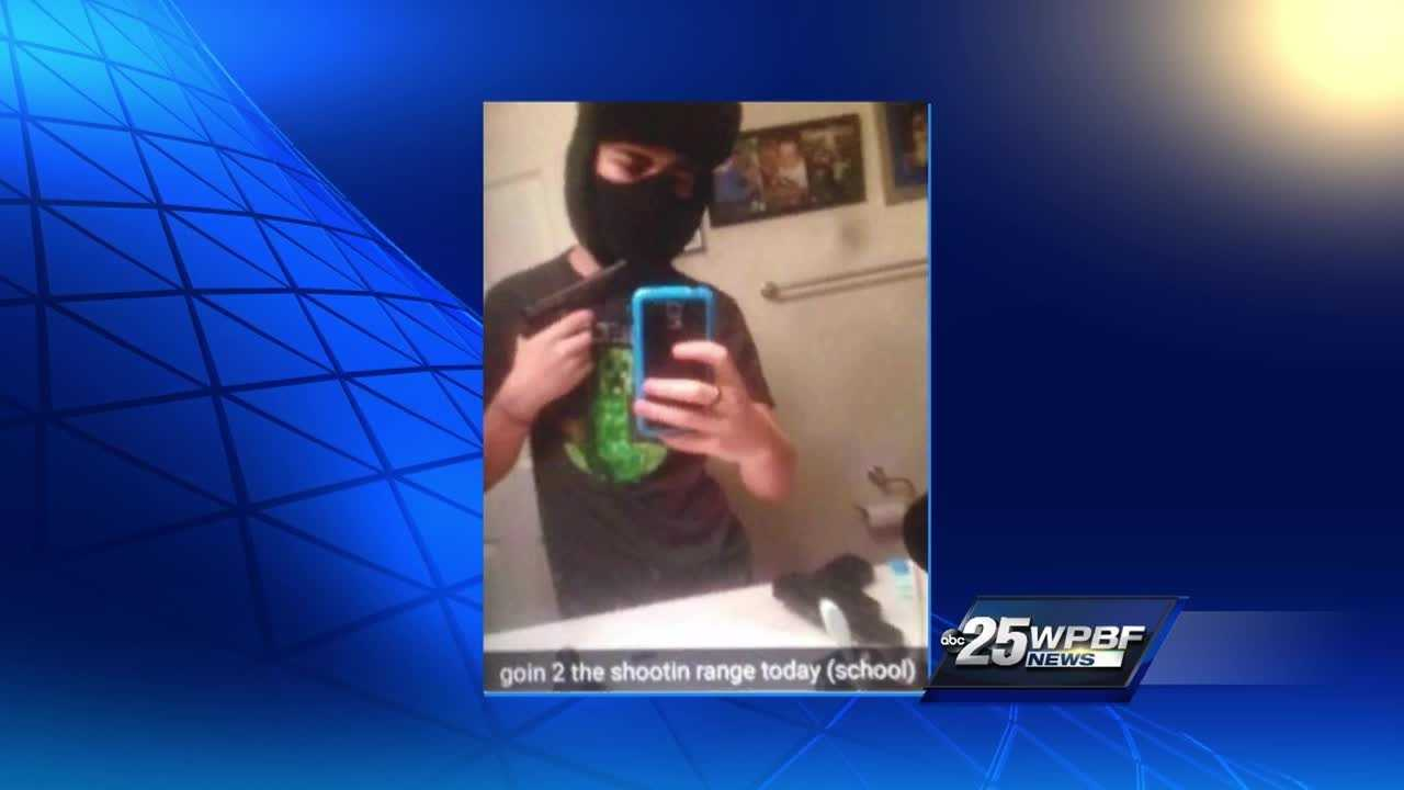 A shocking photo now making the rounds on social media of a local student posing with a mask and gun. Ted White reports.