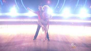 Scores:Carrie Ann - 7 | Len - 6 | Bruno - 7Total: 20/30