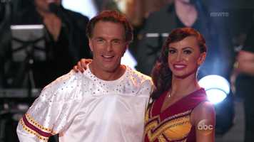 Boston College football legend Doug Flutie is dancing with Karina Smirnoff.