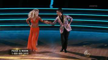 Scores:Carrie Ann - 7 | Len - 7 | Bruno - 7Total: 21/30