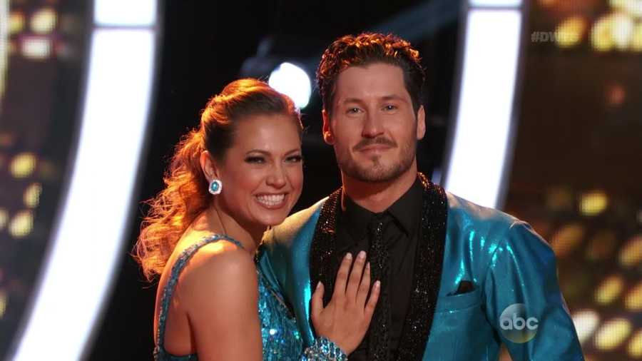 ABC Good Morning America meteorologist Ginger Zee is dancing with Val Chmerkovskiy.