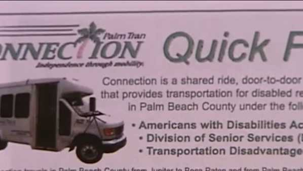 Investigation shows that Palm Tran was manipulating computer system to show that pick ups of elderly were on time. An investigation by John Carey, inspector general, proved Palm Tran's reported 90-percent accuracy rate as false. Ari Hart reports.