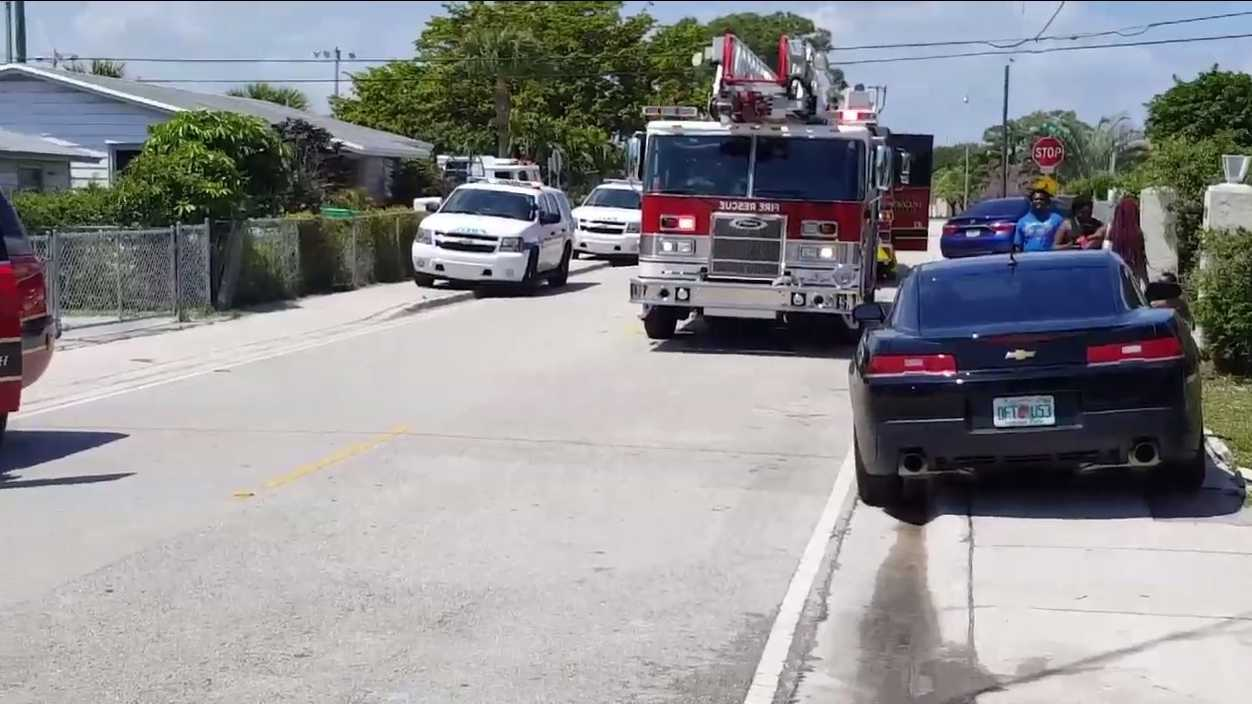 Several firefighters are battling a structure fire on west 31 Street, the Riviera Beach Fire Department official reports.