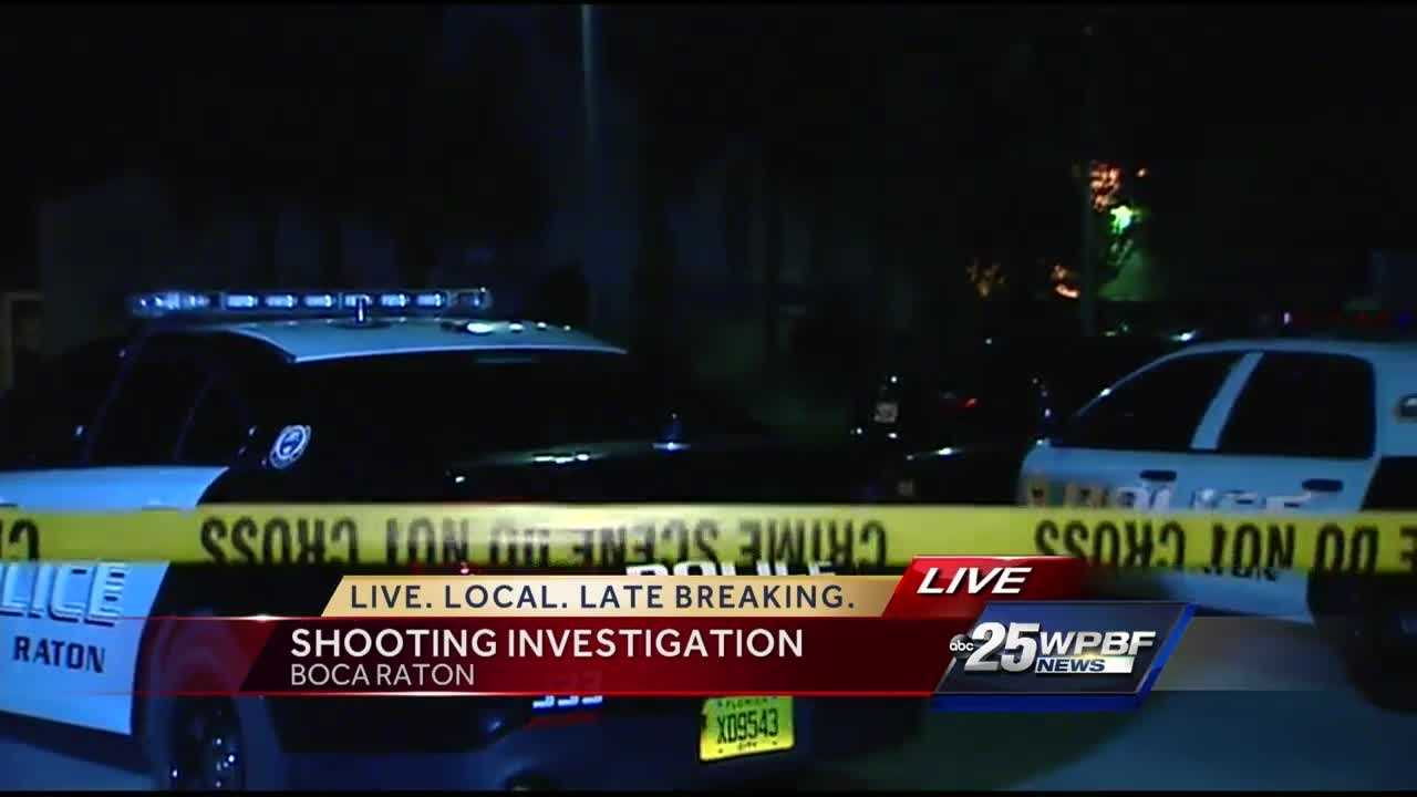 Man hospitalized after Boca Raton shooting