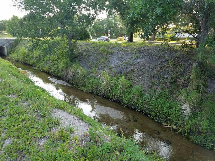 A canal in Vero Beach.
