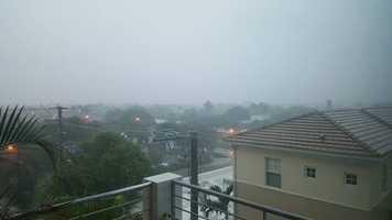 Rain deluge in Delray Beach