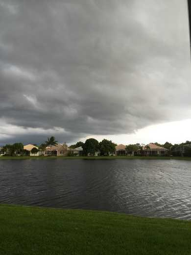 View of storm brewing from my backyard.