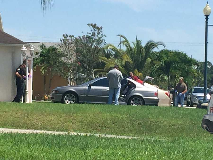 "Ari Hait reporting from home of Omar Marteen in Port St. Lucie, Florida.""Law enforcement combing through car in driveway of family home in PSL."""