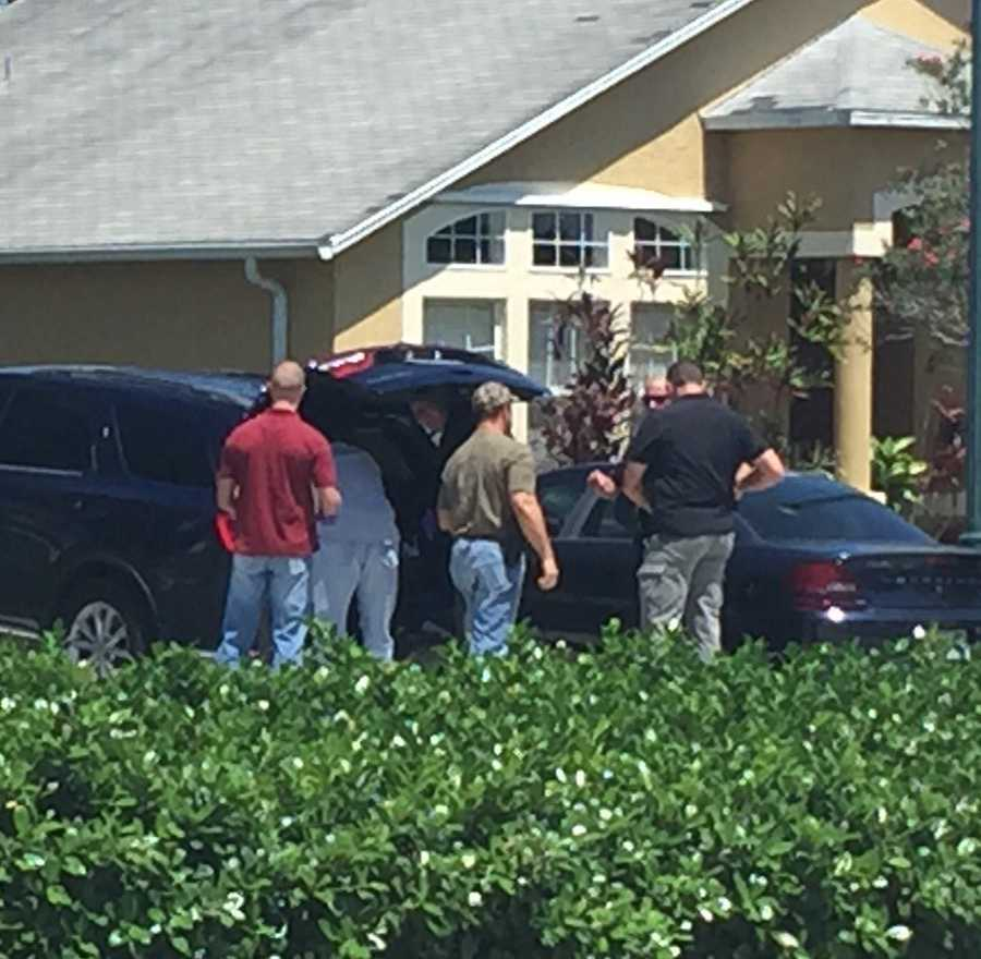 "Ari Hait reporting from home of Omar Marteen in Port St. Lucie, Florida.""Law enforcement loading evidence taken from Mateen family home in PSL."""