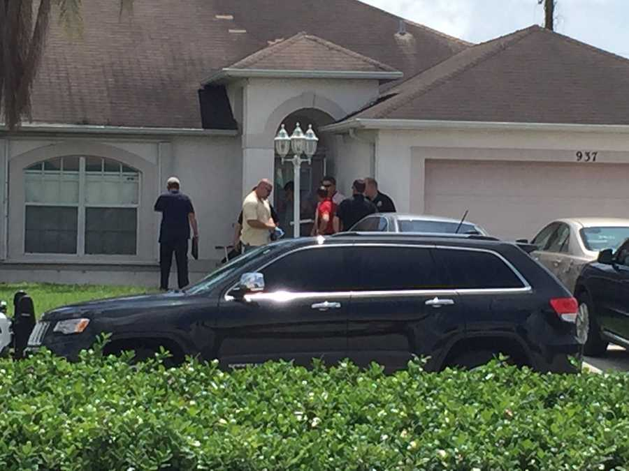 "Ari Hait reporting from home of Omar Marteen in Port St. Lucie, Florida.""Law enforcement just went into this house on Bayshore Blvd in PSL."""